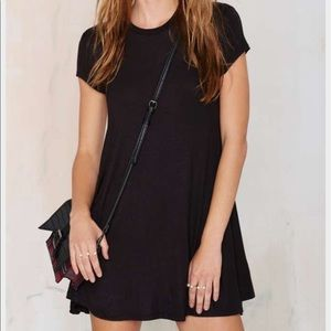 Nasty Gal size XXS Black T-Shirt Mini Dress